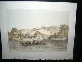 Japan Perry Expedition 1856 Antique Print. To-Ri-Ga-Sa-Ki, Yedo Bay, Tokyo