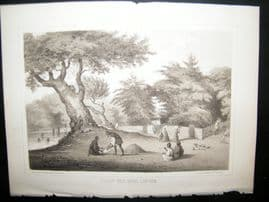 Japan Perry Expedition 1856 Antique Print. Village Near Napha Lew Chew