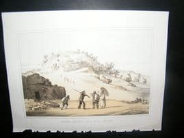 Japan Perry Expedition 1856 Print. Ancient Castle of Na-Ga-Gus-Ko, Lew Chew
