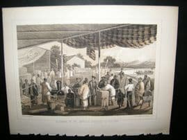 Japan Perry Expedition 1856 Print. Delivering Of American Presents At Yokohama