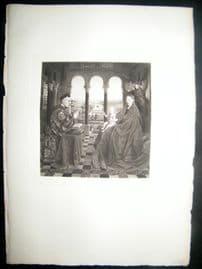 John van Eyck 1885 Photogravure. La Vierge au Donateur