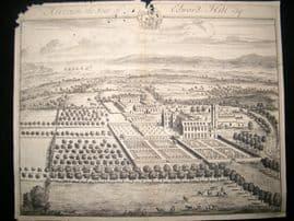 Kip Gloucestershire 1712 Folio Antique Print. Alveston, seat of Edward Hill