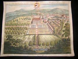 Kip Gloucestershire 1712 Folio H/Col Print. Alderley, Seat of Late Matthew Hale