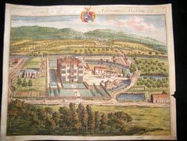 Kip Gloucestershire 1712 Folio Hand Col Print. Easington, Nathaniel Stevens