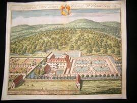 Kip Gloucestershire 1712 Folio Hand Col Print. Hardwick Park Court, William Trye