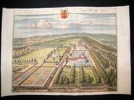 Kip Gloucestershire 1712 Folio Hand Col Print. Hatherop, John Webb, UK