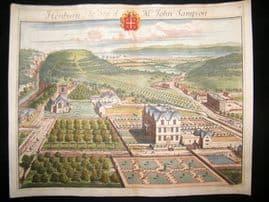 Kip Gloucestershire 1712 Folio Hand Col Print. Henbury, John Sampson