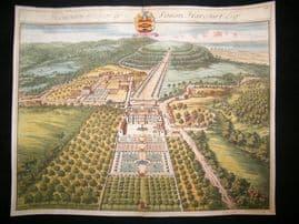 Kip Gloucestershire 1712 Folio Hand Col Print. Henbury, Simon Harcourt