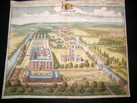 Kip Gloucestershire 1712 Folio Hand Col Print. Kemsford, Lord Viscount Weymouth
