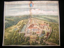 Kip Gloucestershire 1712 Folio Hand Col Print. Lupiatt, Thomas Stephens