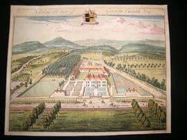 Kip Gloucestershire 1712 Folio Hand Col Print. Nibley, George Smyth Architecture