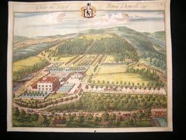 Kip Gloucestershire 1712 Folio Hand Col Print. Over the seat of John Dowell