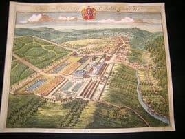 Kip Gloucestershire 1712 Folio Hand Col Print. Rendcomb seat of John Guise
