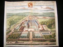 Kip Gloucestershire 1712 Folio Hand Col Print. Sherborn, Seat of Ralph Dutton