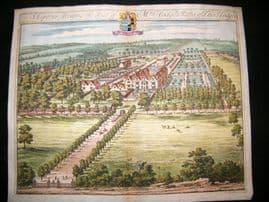 Kip Gloucestershire 1712 Folio Hand Col Print. Shipton Moyne, Walter Estcourt