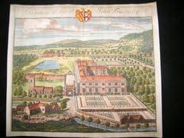 Kip Gloucestershire 1712 Folio Hand Col Print. Stanway seat of John Tracey