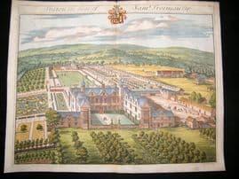 Kip Gloucestershire 1712 Folio Hand Col Print. Syston, Sam Trotman