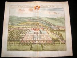 Kip Gloucestershire 1712 Folio Hand Col Print. Wyck, Richard Haines UK