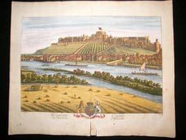 Kip & Knyff C1720 LG Folio Hand Col Print. Windsor Castle, Britannia Illustrata