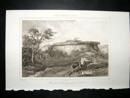 L'Universe C1850's Antique Print Druid Monument, Saumur, France