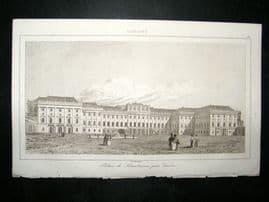 L'Universe C1850's Antique Print Palace of Sohoenbrunn, Vienna, Austria