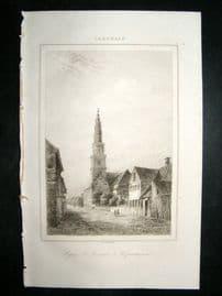 L'Universe C1850's Antique Print St. Sauveur at Copenhagen