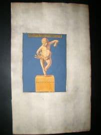 La Chausse Antiquities 1690 Hand Col Decorative Print. Sculpture 1