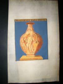 La Chausse Antiquities 1690 Hand Col Decorative Print. Vase 7