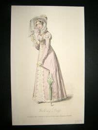 Lady's Magazine 1823 H/Col Regency Fashion Print. Walking Dress 46
