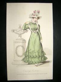 Lady's Magazine 1826 H/Col Regency Fashion Print. Carriage Costume 62