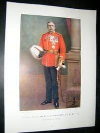 Late Gen W.S.A Lockhart 1900 Military Portrait Print. Boer War
