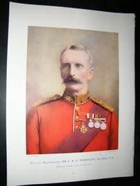 Late Maj-Gen E.R.P Woodgate 1900 Military Portrait Print. Boer War