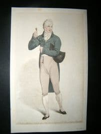 Le Beau Monde 1806 H/Col Regency Fashion Print. Gentleman's Full Dress