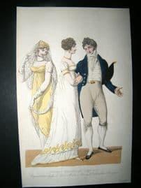 Le Beau Monde 1807 H/Col Regency Fashion Print. Concert Dresses