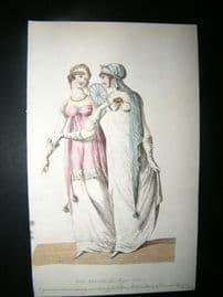Le Beau Monde 1807 H/Col Regency Fashion Print. Full Dresses