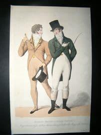 Le Beau Monde 1807 HC Regency Fashion Print. Gentleman's Walking & Riding Dress