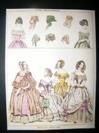 Le Beau Monde 1842 Hand Col Fashion Print 05
