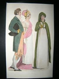 Le Beau Monde C1808 H/Col Regency Fashion Print. Fashionable Group