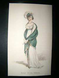 Le Beau Monde C1809 H/Col Regency Fashion Print. Half Full Dress