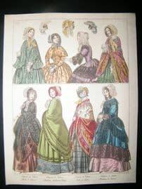 Le Beau Monde C1850 Hand Col Fashion Print 06