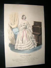 Le Follet C1840's Hand Coloured Fashion Print 829