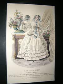 Le Follet C1840's Hand Coloured Fashion Print 839