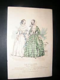 Le Follet C1840's Hand Coloured Fashion Print 857