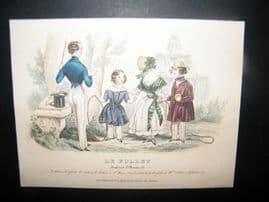 Le Follet C1840's Hand Coloured Fashion Print 858. Children, Gentleman