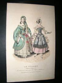 Le Follet C1840's Hand Coloured Fashion Print 902