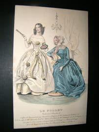 Le Follet C1860's Hand Coloured Fashion Print 1074