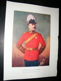 Lieut-Col F.L Lessard 1900 Military Portrait Print. Boer War