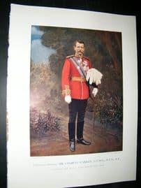 Lieut-Gen Charles Warren 1900 Military Portrait Print. Boer War