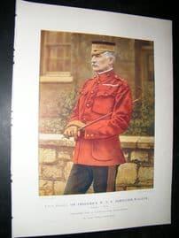 Lieut-Gen Sir Frederick 1900 Military Portrait Print. Boer War