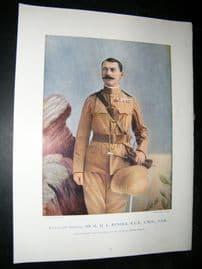 Lieut-Gen Sir H.M.L Rundle 1900 Military Portrait Print. Boer War
